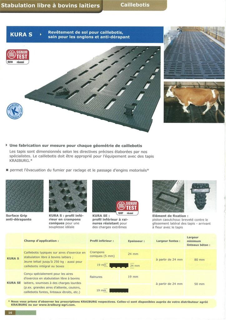 kraiburg tapis matelas caoutchouc pour logettes et aire d 39 exercice. Black Bedroom Furniture Sets. Home Design Ideas